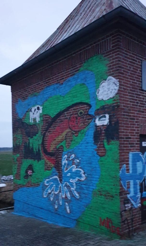 Graffiti auf dem Schöpfwerk Winseldorf